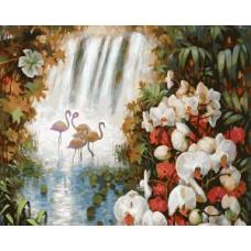 188-АВ Живопись на холсте 40*50 Райский сад